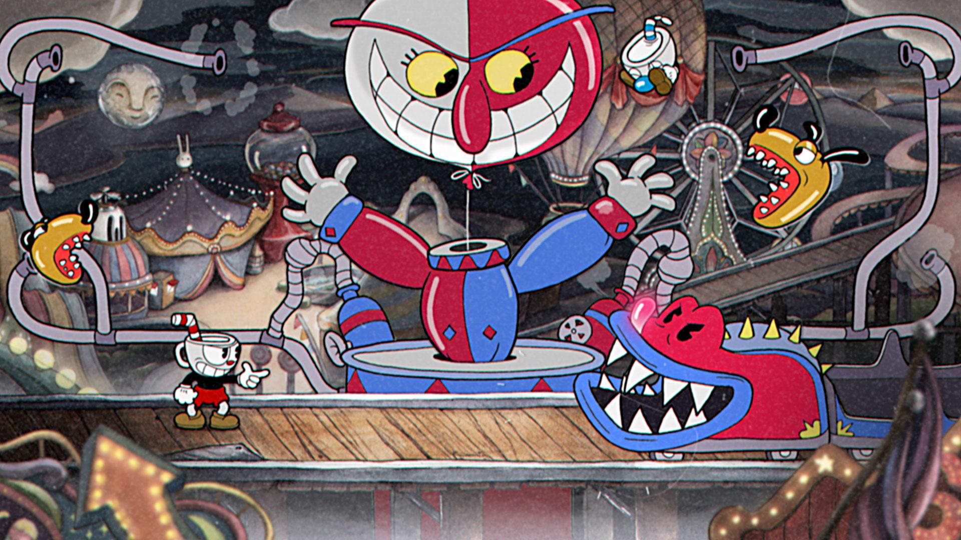 Imagem do chefão do game Cuphead