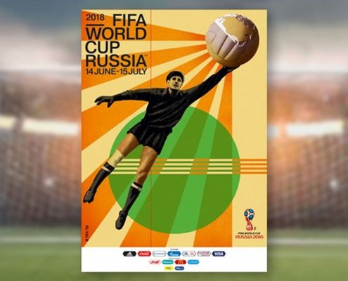 2018 - Pôster da Copa do Mundo da Rússia